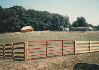 4 Board Point Pine Fence and Barn